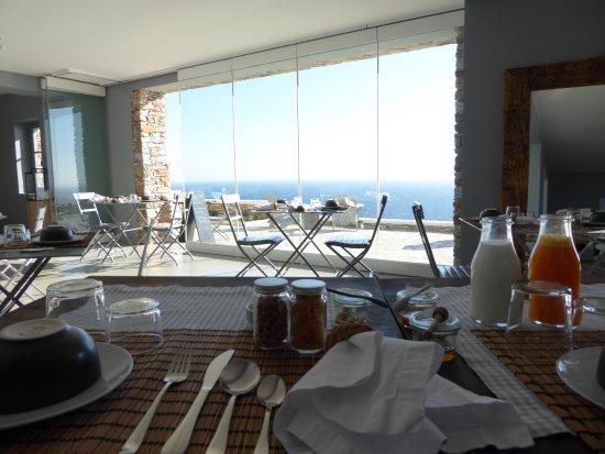 Kastro, Greece: Traumhafte Aussicht am Frühstückstisch