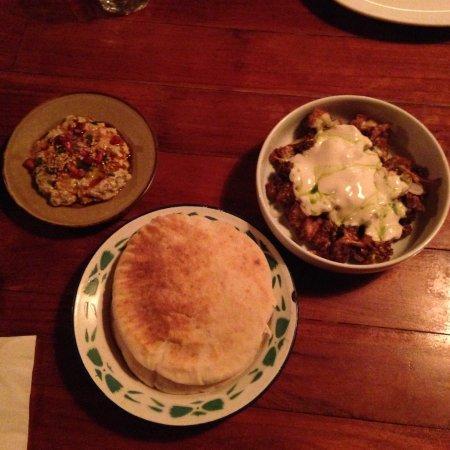Artichoke: Baba Ganoush, cauliflower mezze + pitta