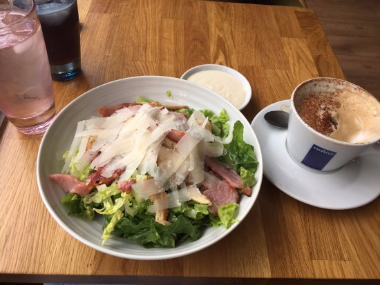 Henley in Arden, UK: Chicken and bacon caesar salad