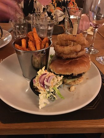 Lesbury, UK: burger asked for it without bread!