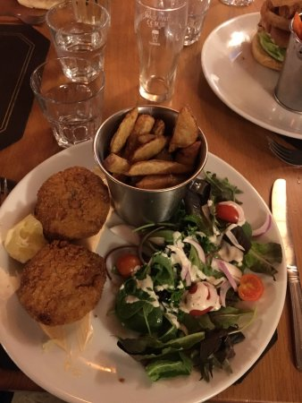 Lesbury, UK: crab cake
