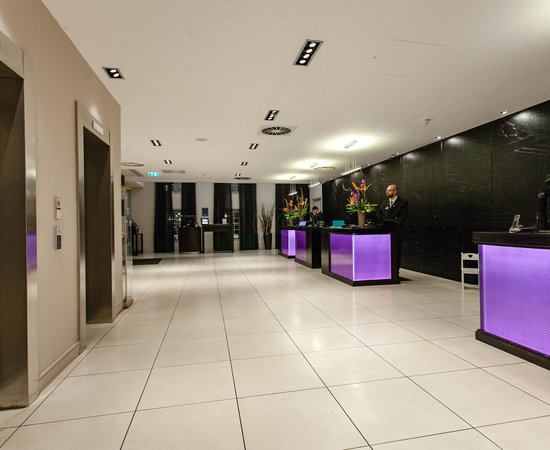 Lobby at the Radisson Blu Hotel, Edinburgh