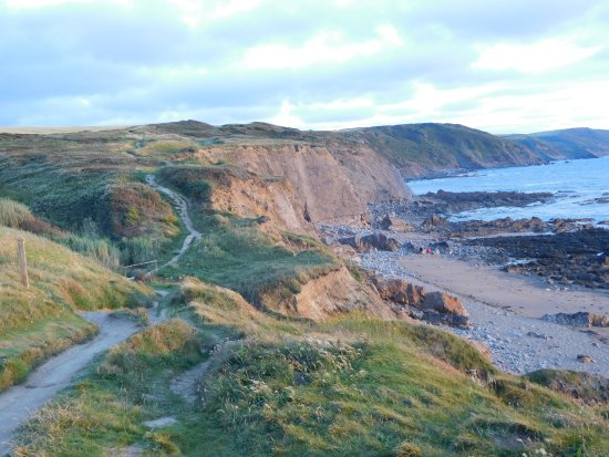 Widemouth Bay, UK: The coast path 10 mins from the hotel
