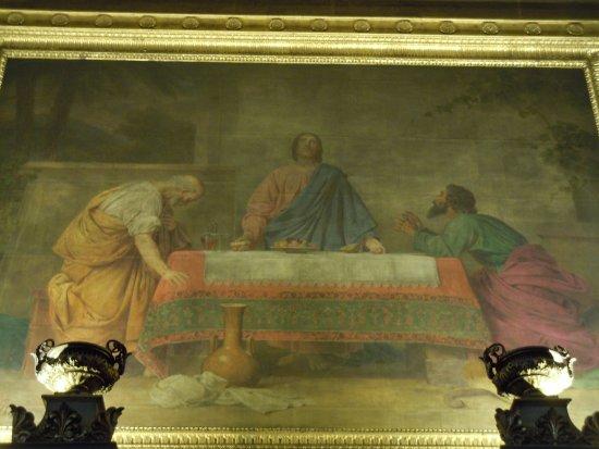 tableau au dessus de l 39 autel de la chapelle gauche du choeur glise saint denys du saint. Black Bedroom Furniture Sets. Home Design Ideas