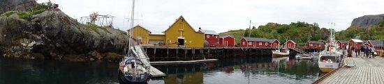 Der kleine Hafen von Nusfjord