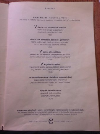 Trattoria Caprese Amsterdam : Super lecker! Preis Leistung super, toller Service sehr freundliches Personal