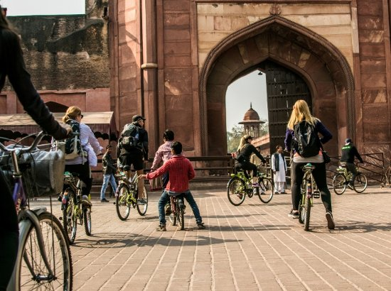Agra By Bike: Taj Mahal Entrance