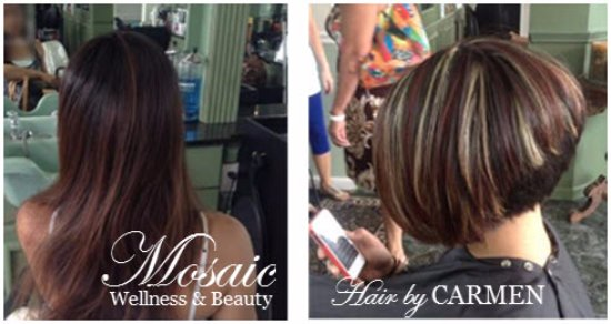 Hair by CARMEN at Mosaic Salon and Spa in Avenel. NJ