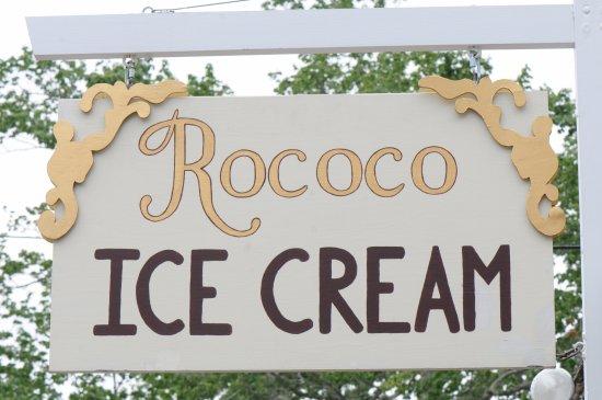 Rococo Artisan Ice Cream: Our outdoor sign