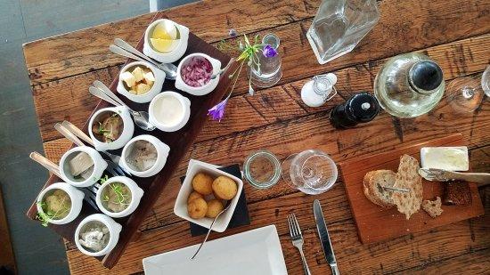 "The ""herring board"" at dinner"
