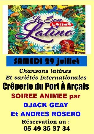 Arcais, Prancis: soiree ANIMEE LE 29 JUILLET ; RESERVEZ VOTRE TABLE !