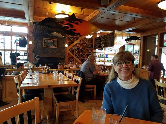 Twisted Fish Company Alaskan Grill : Decor/atmosphere inside the restaurant
