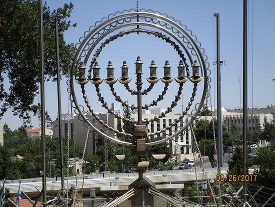Mount Herzl National Cemetery: menorah on Mount Herzl