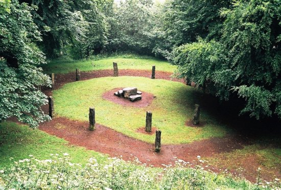 The Castle Mound at Mold.