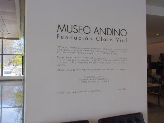 Alto Jahuel, Chile: Museo Andino