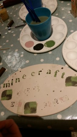 Forres, UK: Paint just what you want at The Loft at Lofty Pots pottery painting in the Coffee Shop