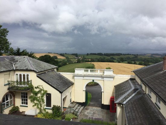 Dunchideock, UK: View from room 32.