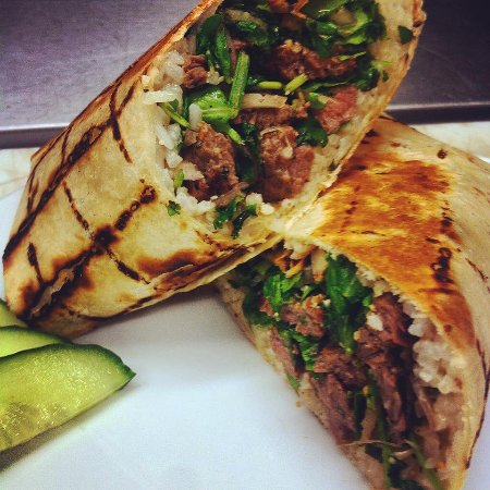 Camano Island, WA: Thai Steak Wrap