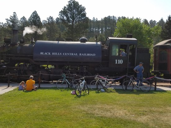 The actual steam engine based in Hill City.