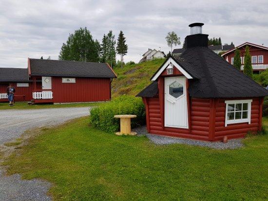 Steinkjer, Noruega: Fra campingplassen