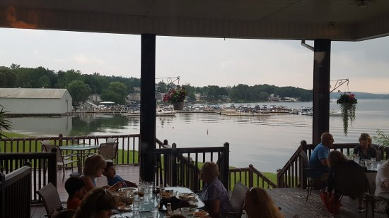 Penn Yan, NY: View from outside dining area