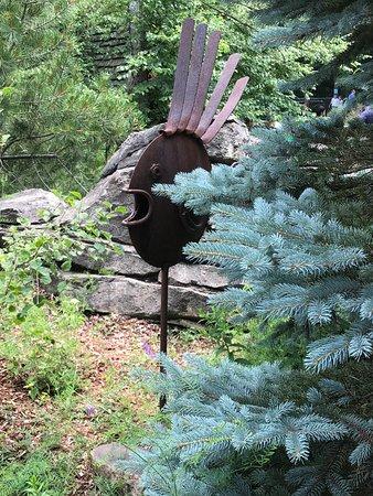 Westford, MA: Sculpture along the Forbidden Mine mini golf course