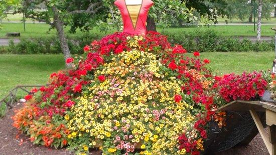 Värmland, Sverige: blomklänning