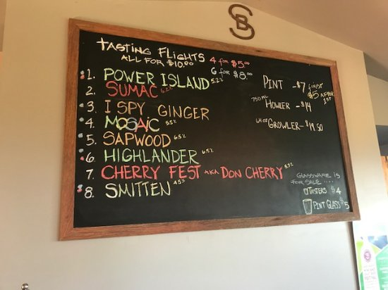 Suttons Bay, MI: menu board