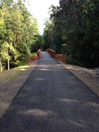 Sequim Bay State Park: New bridge to group camp and mooring dock
