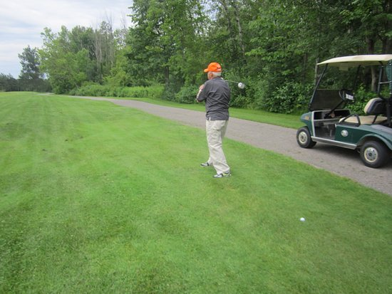 Barrie, Canada: At age 87 it is cart path golf. Way to go Herb