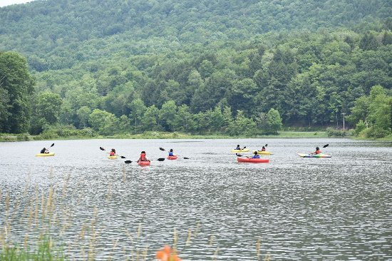 Halcottsville, NY: Kayakers enjoying an outing on #LakeWawaka