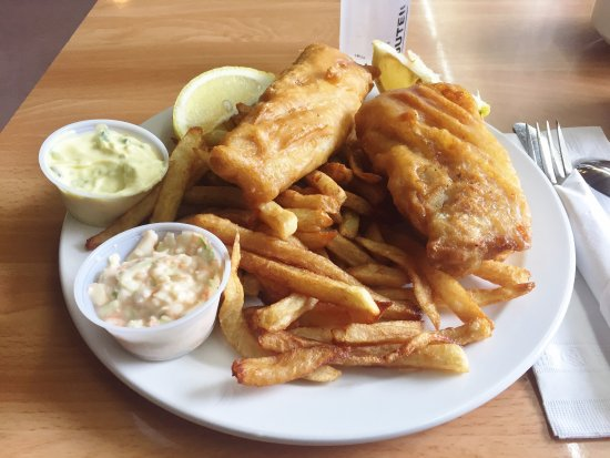 Fish & Chips (Cod) - Crabby Patty's Family Diner, Kirkland Lake ON