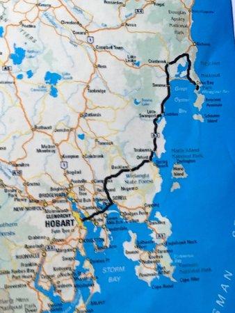 Coles Bay, Australia: Map