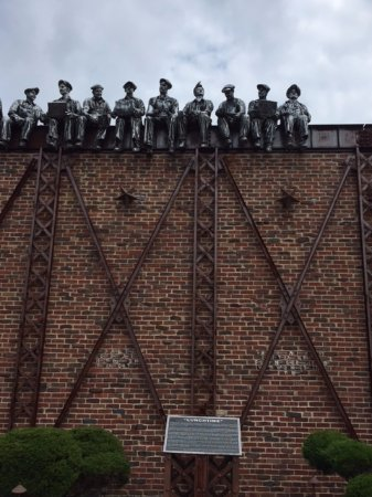 "Valparaiso, IN: Industrial Revolution Sculptures ""Lunchtime"""