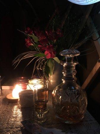 Longhope, UK: Candlelit sherry