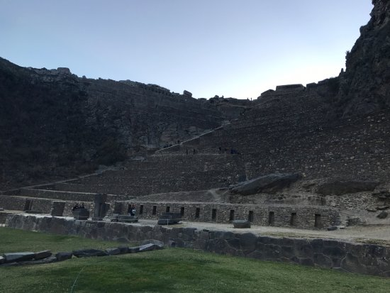 Ollantaytambo, Peru: VIew from the bottom/side