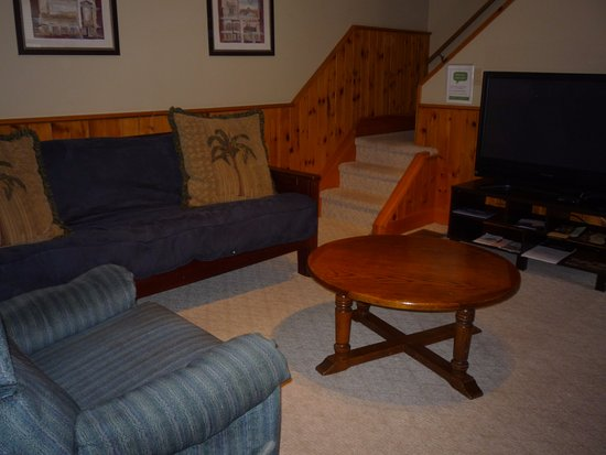 Belleville, Canada: Downstairs sitting area relax in front of our 42 inch flat screen
