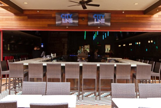Outdoor bar and patio picture of city line bar and grill for Balcony grill and bar