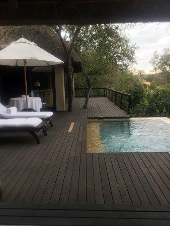 "Royal Malewane: ""Porch"" with plunge pool"