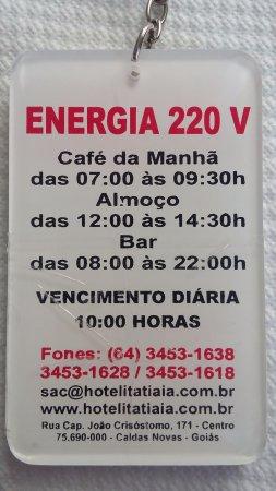 dce7f4729610d Hotel Itatiaia das Thermas  Observações Importantes - O Check Out é às 10 00