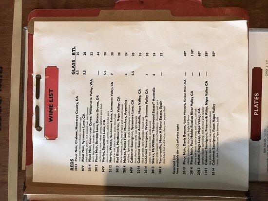 Sturgis, Мичиган: wine list