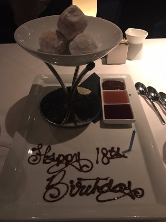 Red, the Steakhouse - Beachwood: Happy 18th Birthday Donuts!