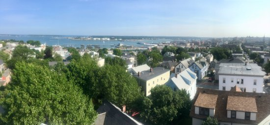 Portland Observatory: View of Casco Bay and Portland homes