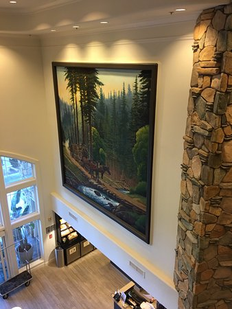 Hilton Santa Cruz / Scotts Valley: Nice painting in lobby