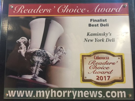 Kaminsky's New York Deli: Finalist Best Deli in Myrtle Beach