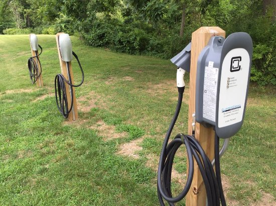 Potawatomi Inn and Conference Center: They have three EV chargers including 2 Tesla chargers.