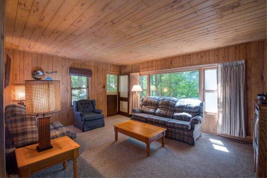 Eagle River, Висконсин: Cottage 6 Living Room