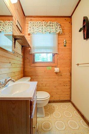 Eagle River, Висконсин: Cottage 6 bathroom