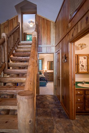 Eagle River, WI: Beautiful Wood Stair Case