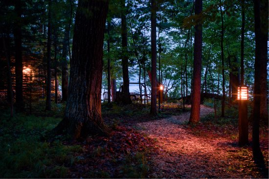 Eagle River, WI: Path to the Lake House